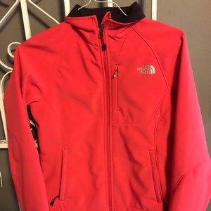 Pink north face jacket size small